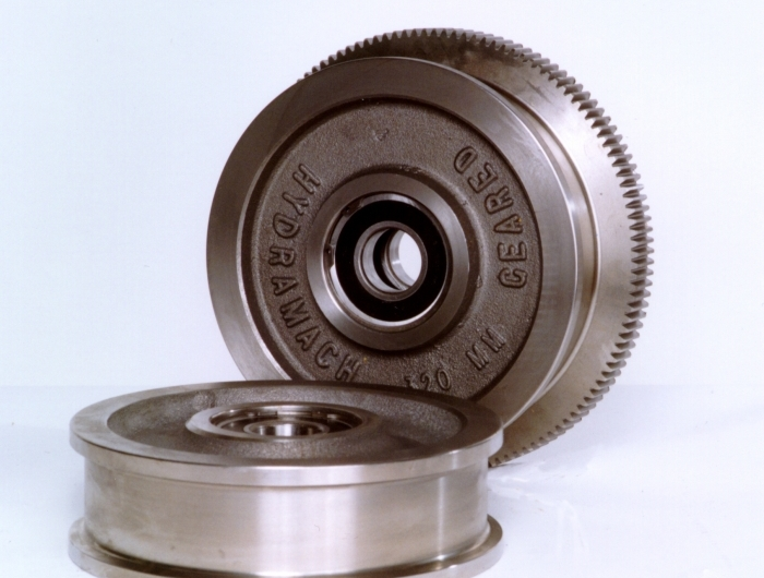single flange and double flange 200mm crane wheels